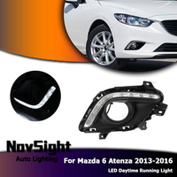 NOVSIGHT Auto Car LED Daytime Running Light DRL White Driving Daylight Fog Lamp for Mazda 6 Atenza 2013 2016 D20