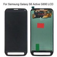 Samsung Galaxy S6 aktif LCD G890 G890A ekran dokunmatik ekranlı sayısallaştırıcı grup Samsung için yedek G890 ekran parçaları