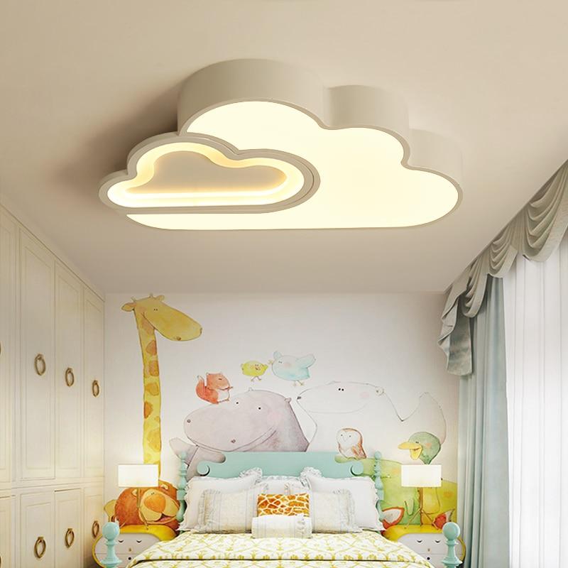 LED Nube camera dei bambini dei bambini di illuminazione a soffitto lampada Del Bambino della luce di soffitto con Regolazione per le ragazze dei ragazzi camera da letto Lampada Da Soffitto A led - 4