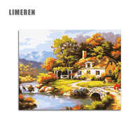 Fairyland Landscape DIY Painting By Numbers Kits Drawing Painting By Numbers Acrylic Paint Pintura On Canvas For Room Artwork