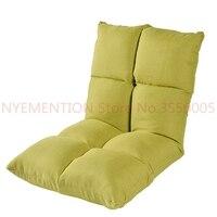 8 rejillas perezoso sofá lavable sofá cama de dormir ajustable gruesa de alta elasticidad esponja suave silla con cremallera Invisible 10 piezas
