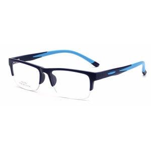 Image 2 - Men Women Eyeglasses Frames Prescription Eyewear TR90 Spectacle Frame Silicone Optical Brand Eye Glasses Frame Half Rimless