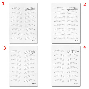 5pcs Microblading Tattoo Skin Practice Fake Skin for 3D Pens Eyebrow Permanent Makeup Tattoo Machines Supplies Accessories