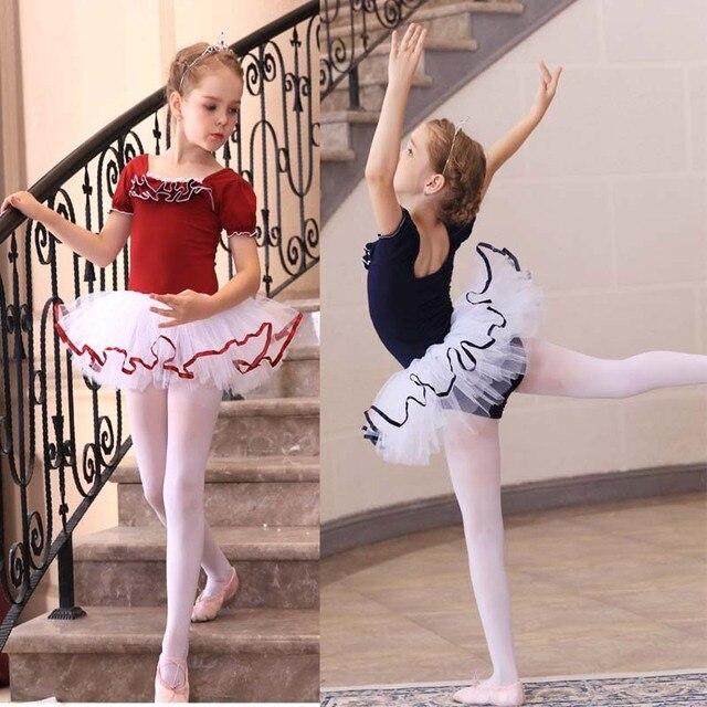 dd42bf653 Retail Girls Kids Dance Dress Ballet Tutu Dancewear Dresses Leotard ...
