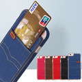 Cowboy Phone Case with Car Pocket Denim TPU Material Moblie Phone Casing Caqa for iPhone 6/6S/6Plus/6SPlus/7/7Plus Galaxy S7