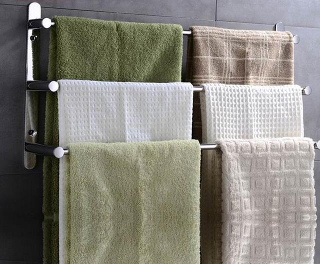 60 cm longitud 304 Acero inoxidable escalera toalla multifuncional Toalleros  familia Baño 856304696c2d
