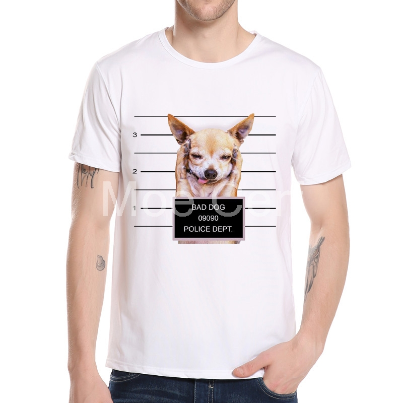 2017 New Brand Modal T Shirt Police Dept Design T Shirts: MOE CERF Fashion Bad Dogs Police Dept Design T Shirt Men