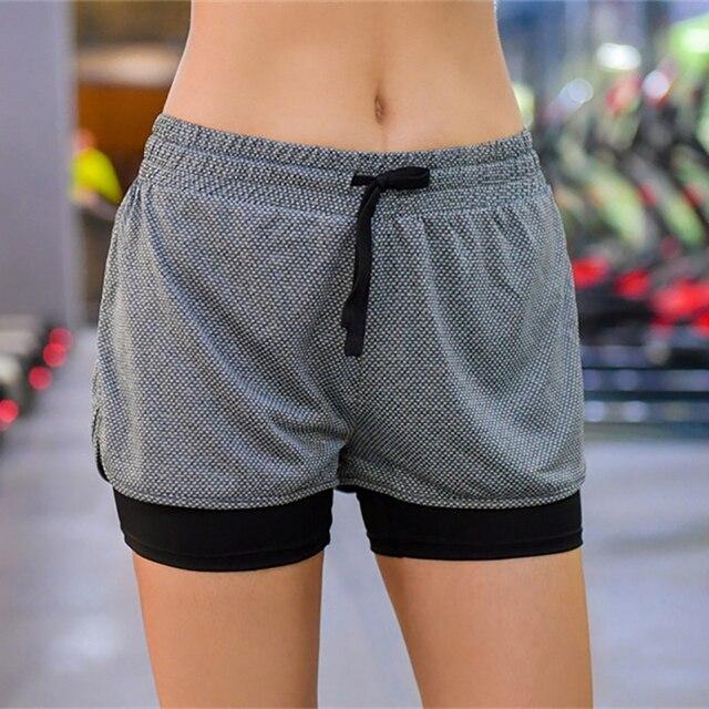 1798ca87a LYNSKEY 2 In 1 Olahraga Berjalan Celana Pendek Womens Yoga Gym Jogging  Wanita Athletic Pendek Cepat