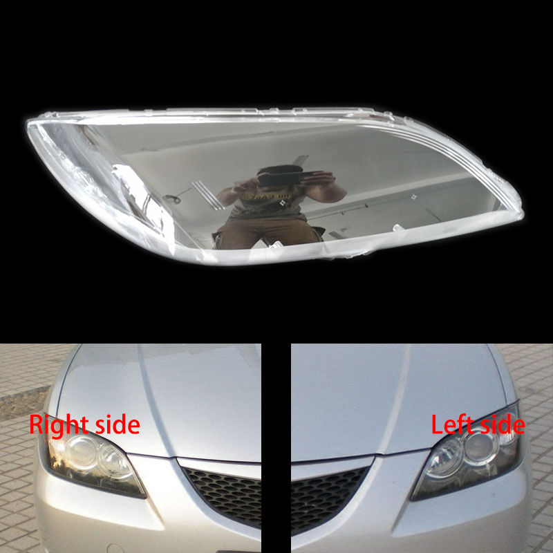 Headlight Shell Lampshade Headlamp Cover Lamp Headlights Glass Shell For Mazda 3 M3 (sedan) 06-12