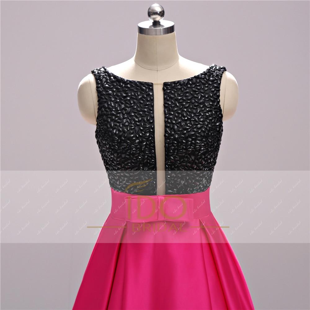 Νέα Άφιξη Μαύρο και Φούξια Φορέματα - Ειδικές φορέματα περίπτωσης - Φωτογραφία 3