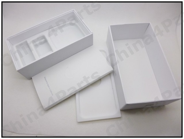 UK,US Version Paper Package Packing box for iPhone 5 New Retail Package Box Contents Of Black And White Models For iPhone 5