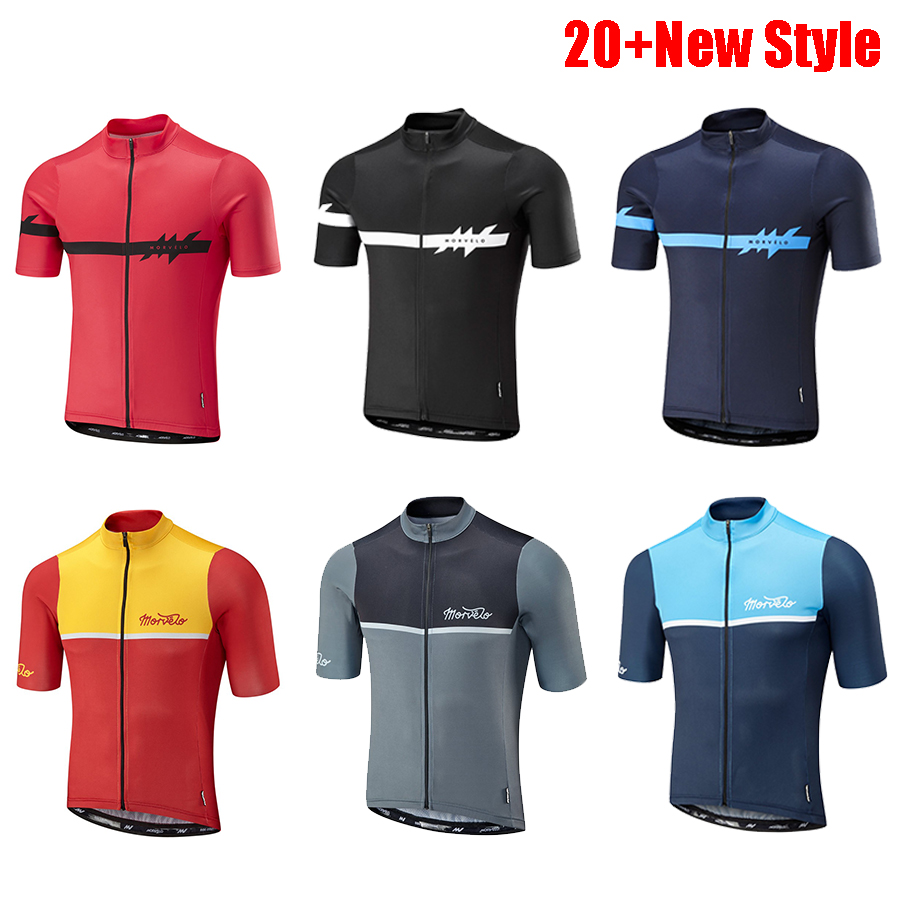 High Quality morvelo summer mens short sleeve cycling jersey bicycle breathable shirt MTB ciclismo maillot clothes sportwear