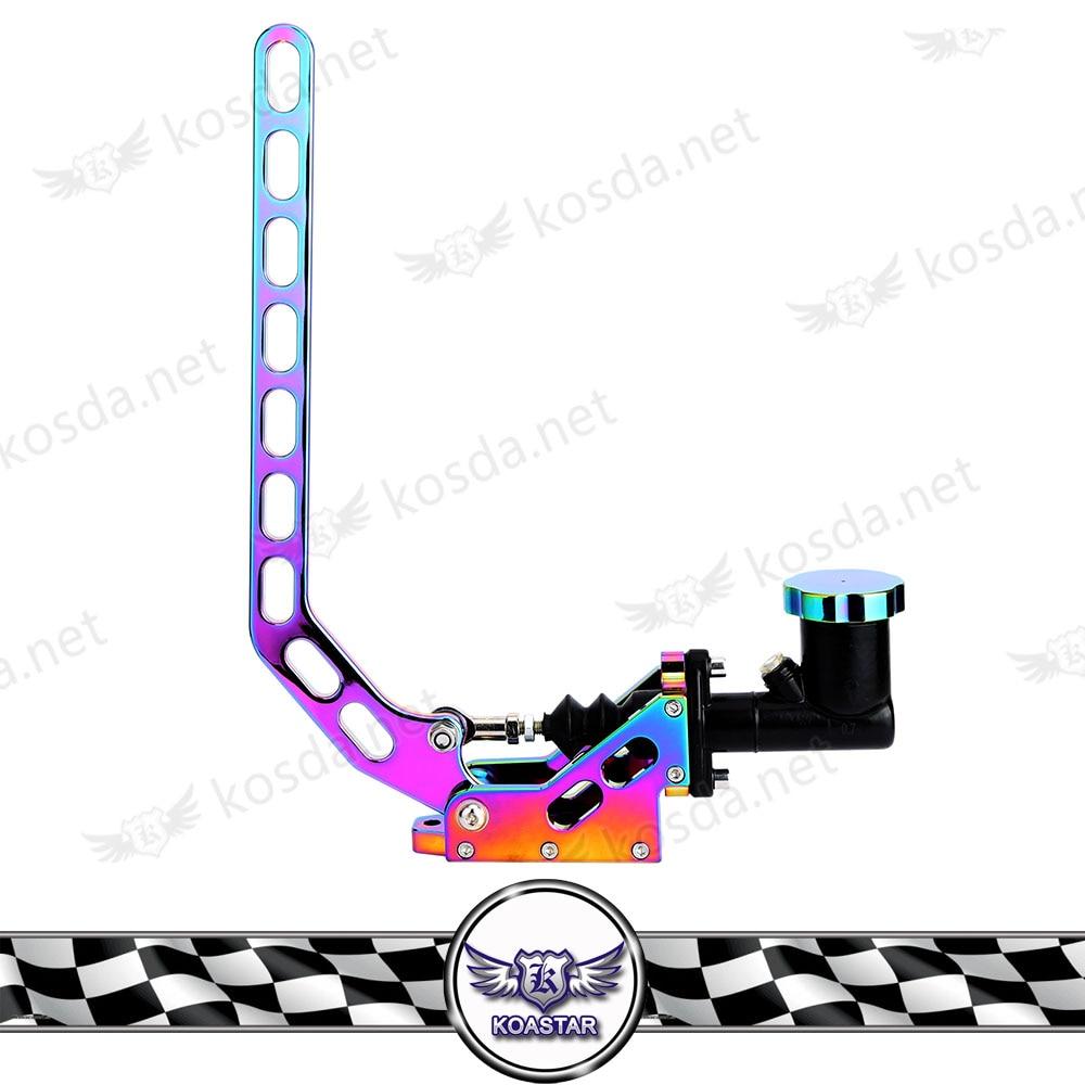 цена Neo chrome Aluminum Hydraulic Drift Hand Brake Racing Parking Handbrake Lever Gear Type-9 в интернет-магазинах
