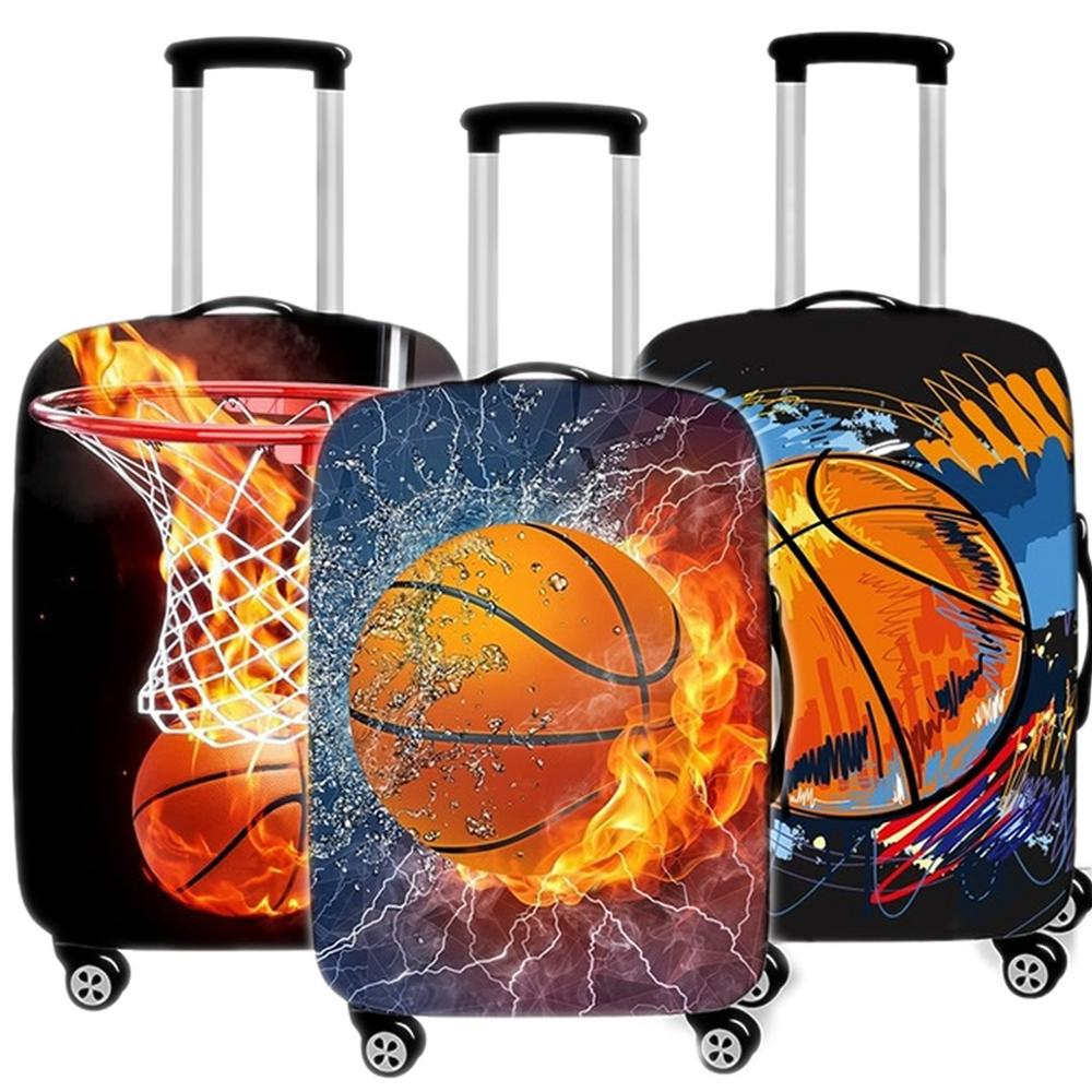 Basketball Suitcase Case Protective Cover Elastic Travel Luggage Dust Cover Accessories Suitcases Organizadores 18 To 32 Inches