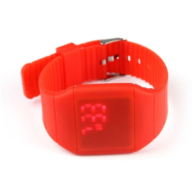 blue shope #4001 Waterproof Mens Womens Digital LED Touch Sports Silicone Bracelet Wrist Watch