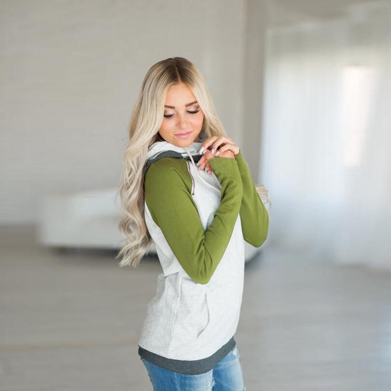 elsvios 2017 double hood hoodies sweatshirt women autumn long sleeve side zipper hooded casual patchwork hoodies pullover femme ELSVIOS 2017  hoodies, Autumn Long Sleeve HTB10FuUeYsTMeJjy1zeq6AOCVXaH