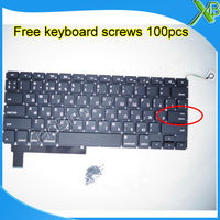 Brand New For MacBook Pro 15 4 A1286 Small Enter RS Russian Keyboard 100pcs Keyboard Screws