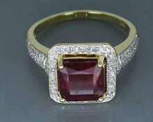 Fine Jewelry Vintage Solid 14Kt Yellow Gold 4.60Ct Heated  Red Ruby Gemstone Ring