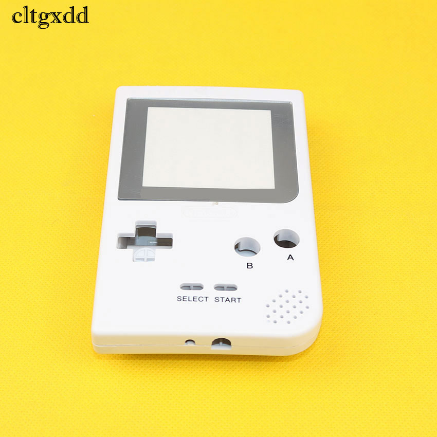 cltgxdd Full Case Cover Housing Shell Replacement for Gameboy Pocket Game Console for GBP Shell Case with Buttons Kit