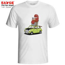 Mr Bean Driver T-shirt Comedy Drama TV Series Funny Novelty Creative Pop Active Novelty T Shirt Brand Punk Design Women Men Top цена