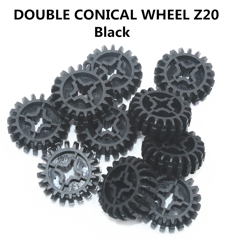 Self-Locking Bricks Free Creation Of Toy Technic DOUBLE CONICAL WHEEL Z20 10Pcs Compatible With Lego NOC6093977