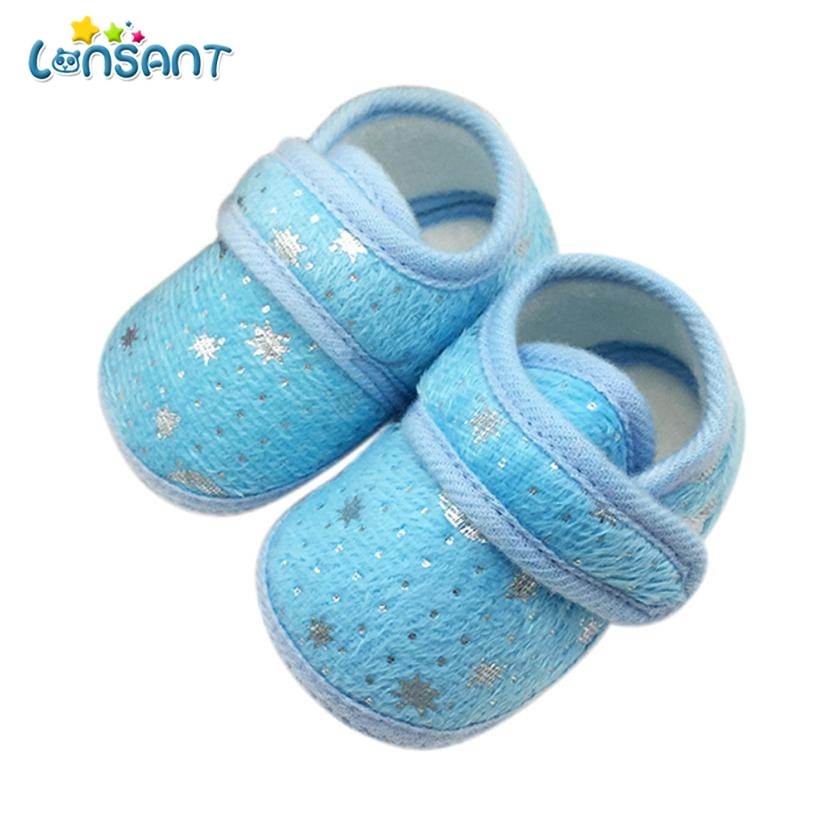 LONSANT 2018 Starry Sky Printed Toddler Anti-Slip Soft Baby Shoes E1120