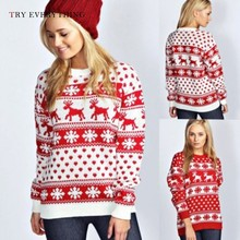 Christmas Sweaters Women Winter 2019 Kintted Sweater Red Jumper And Pullovers Ladies Jumpers