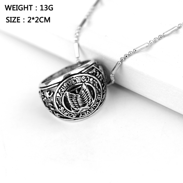 Attack On Titan Pyramid Giant Circle Pendant Necklace