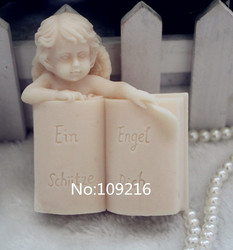 Wholesale 1pcs angel with book zx104 handmade soap mold crafts diy silicone mould.jpg 250x250