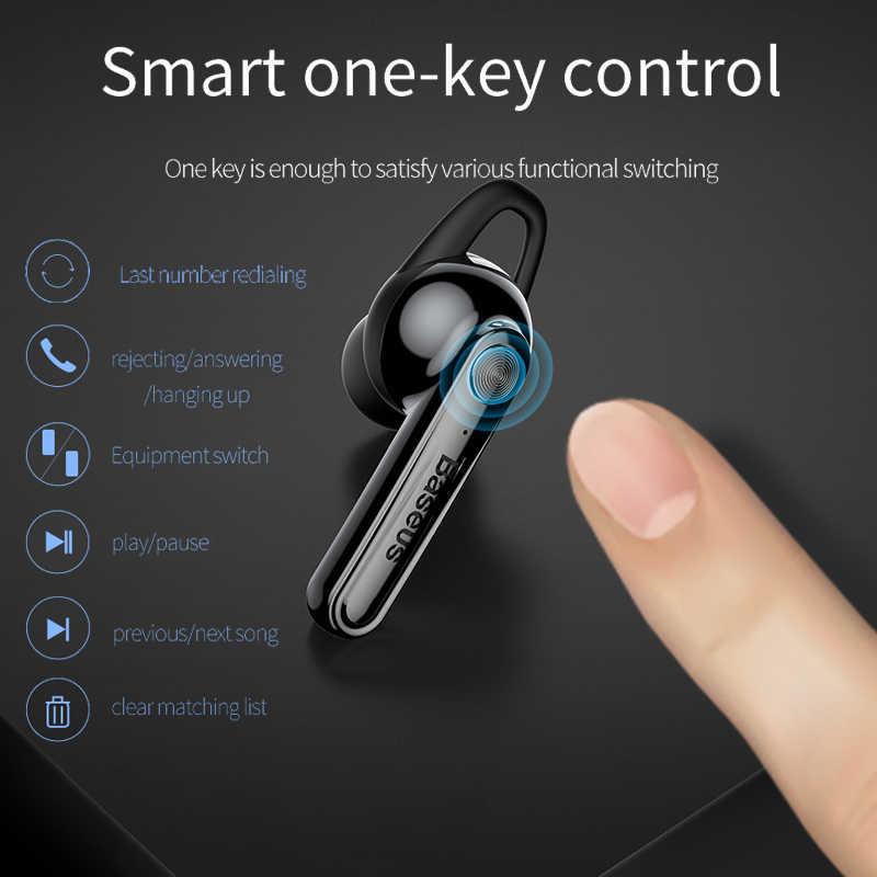 Baseus bezprzewodowy słuchawki Bluetooth słuchawki magnetyczne ładowanie USB zestaw słuchawkowy zestaw głośnomówiący Stereo słuchawki douszne z mikrofonem dla iPhone Xiaomi
