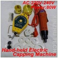 Hand-held Máquina Tampando Elétrica Chave De Fenda Precsion AC220V Com Inserção De Borracha Para 10 6 Capper-50mm Cap 1000 rpm