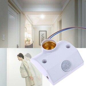 Настенный светильник с инфракрасным датчиком движения, 10 шт., автоматический выключатель, 220 В, 60 Вт, энергосберегающая лампа для коридора и ...