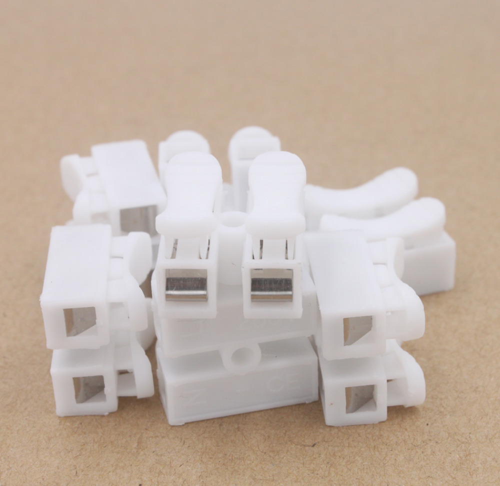Quick Connector Cable Clamp Terminal Block Spring Wire Led 50pcs 2pins Printed Circuit Board Screw Terminals Us Img 0635