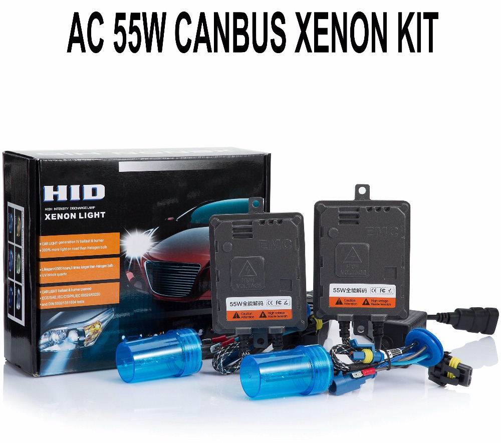 55W Xenon HID Kit Canbus Error Canceller Fast start H1 H3 H4 H7 H11 H27 9012 D2H Car Headlight Fog Light Digital Ballast Reactor cnsunnylight 38w xenon hid kit canbus quick start bright smart ballast all colors 4300k 6000k replacement bulb h1 h3 h4 h7 h11