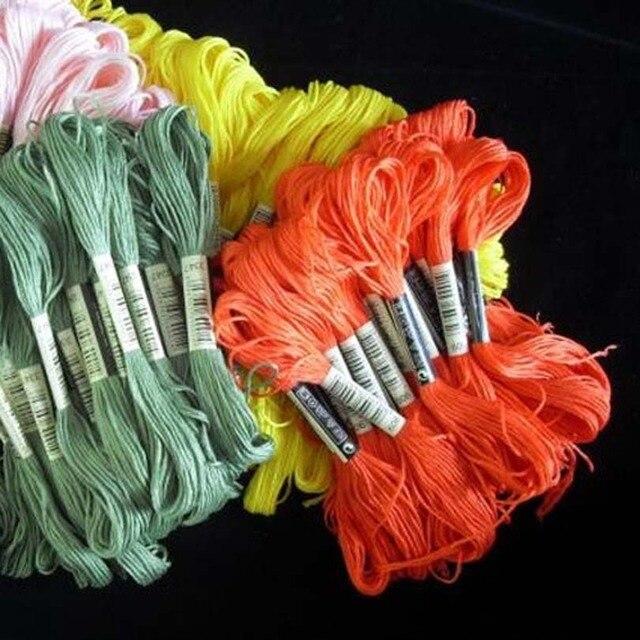 50/100/150/250 kolory DMC podobne 100% bawełniana haftowana nici zestawy do ściegu Mouline 6 nici nici 8m szycia motek