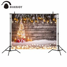 Allenjoy photographic background Snow lantern Christmas gift children new backdrop photocall photo printer customize HD files