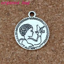 Angel Charm Pendants 100Pcs/lot Antique silver alloy religion Fashion Jewelry DIY Fit Bracelets Necklace Earrings 19x22.5mm