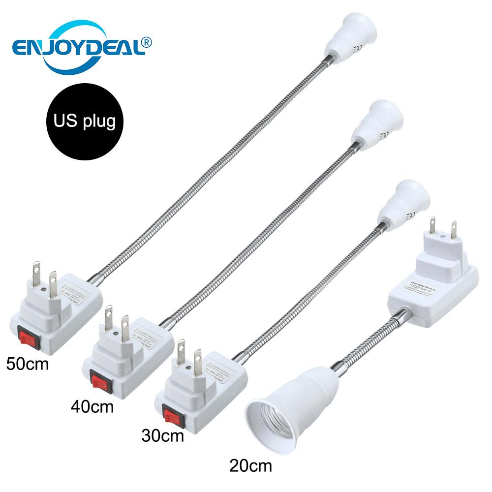 E27 Flexible Extension Converter LED Light Lamp Bulb Extend Adapter Wall Socket Lamp Base Holder Screw Socket E27 Socket