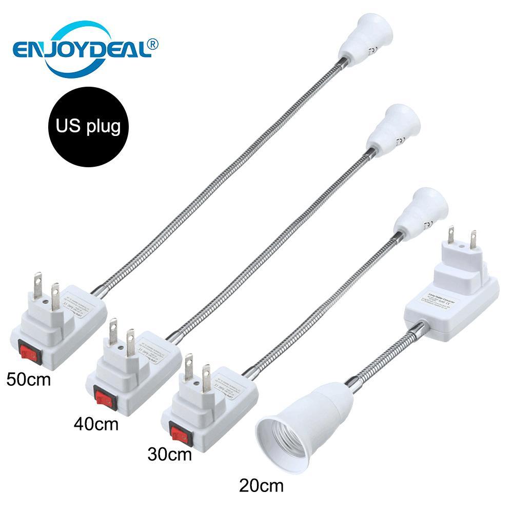 E27 Flexible Extension Converter LED Light Lamp Bulb Extend Adapter Wall Socket Lamp Base Holder Screw Socket E27 Socket