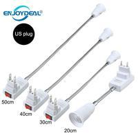 E27 conversor de extensão flexível led lâmpada de luz estender adaptador soquete de parede suporte da lâmpada base parafuso soquete e27|Base da luminária|Luzes e Iluminação -