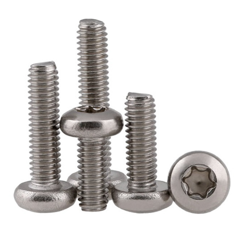 цены 50Pcs M2 M2.5 M3 M4 304 Stainless Steel Torx Pan Head Screw Six-Lobe Round Head Machine Screws