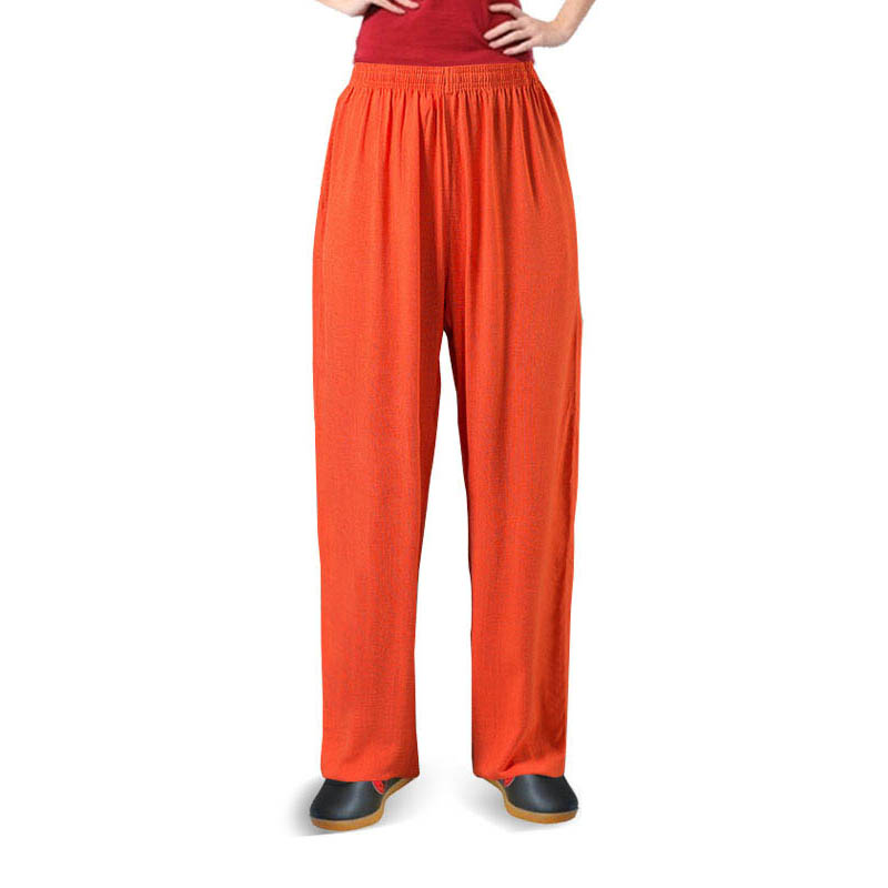 Plus Size Artes Marciales Entrenamiento Kung Fu Pants For The Men Women Aikido Kendo Traditional Wu Shu Sport Pants For Male