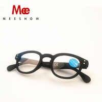 Gafas De lectura De MEESHOW De moda para hombres y mujeres Gafas redondas De presbicia francesa Gafas Lunettes De conferencia 1513 + 1,75 + 2,25