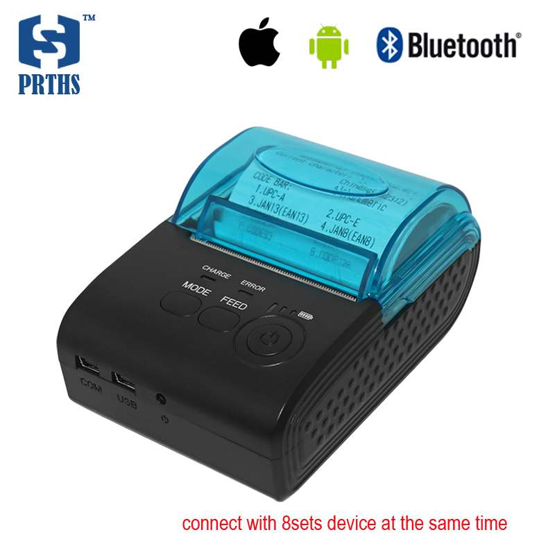 58mm impressora termica IOS, Android pos terminal printer bluetooth thermal receipt printer for portable printing HS-590AI8 goojprt mtp 3 portable 80mm bluetooth thermal printer exquisite lightweight design eu plug support android pos multi language