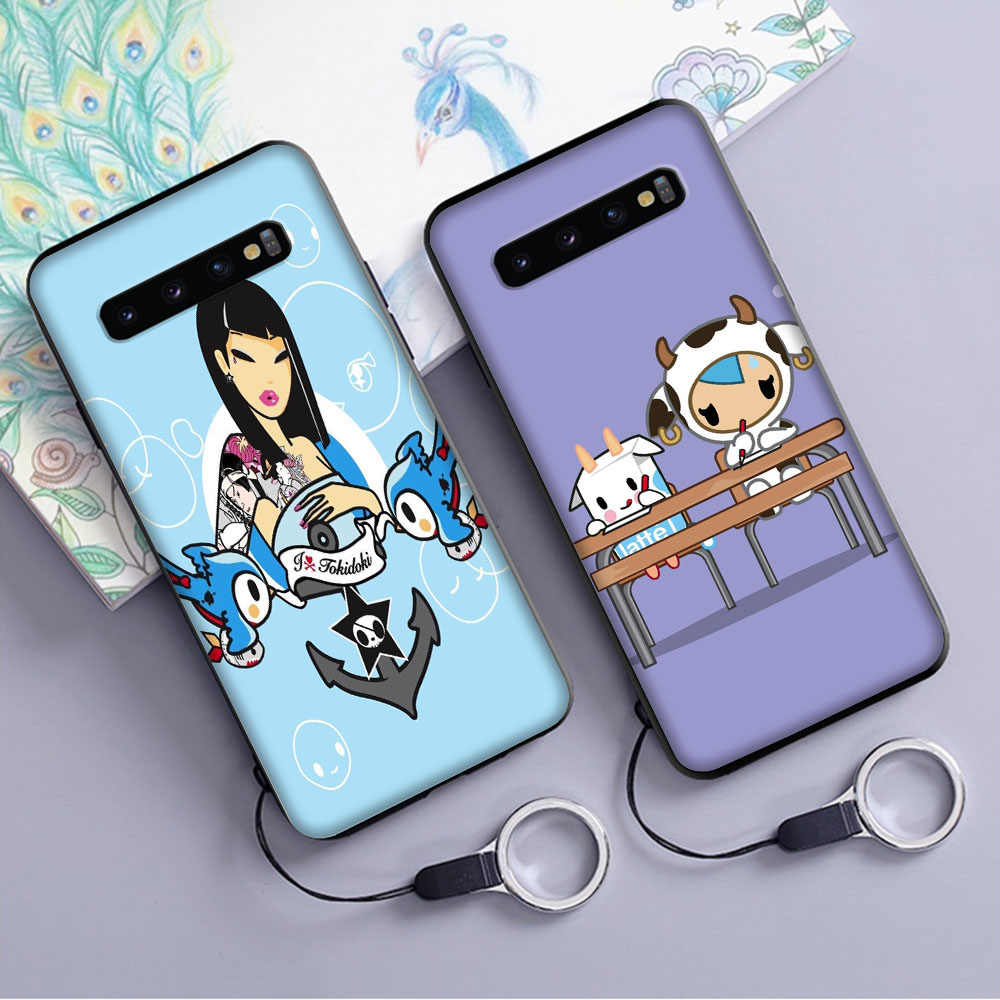 Jepang Tokidoki Soft Case untuk Samsung Galaxy S10 Plus S10e S7 S6 Edge S8 S9 Plus J6 Cover