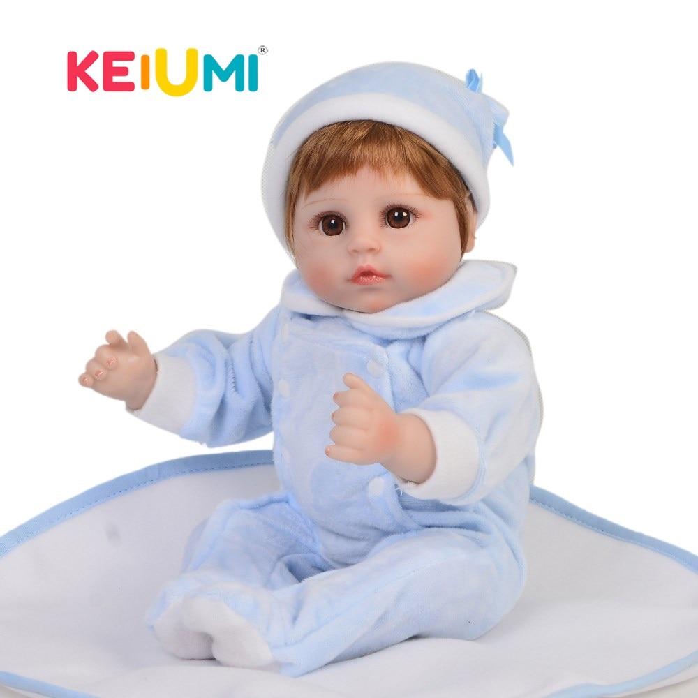 Charming 18 Inch Dolls Reborn Realistic Silicone 48 cm Soft Vinyl Newborn Baby Doll Real Touch