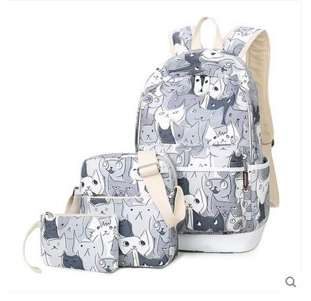 2017 new printed shoulder bag Japanese and Korean version of high school students bag large capacity backpack wild oxford bag korean version of the female students shoulder bag large capacity backpack canvas backpacks