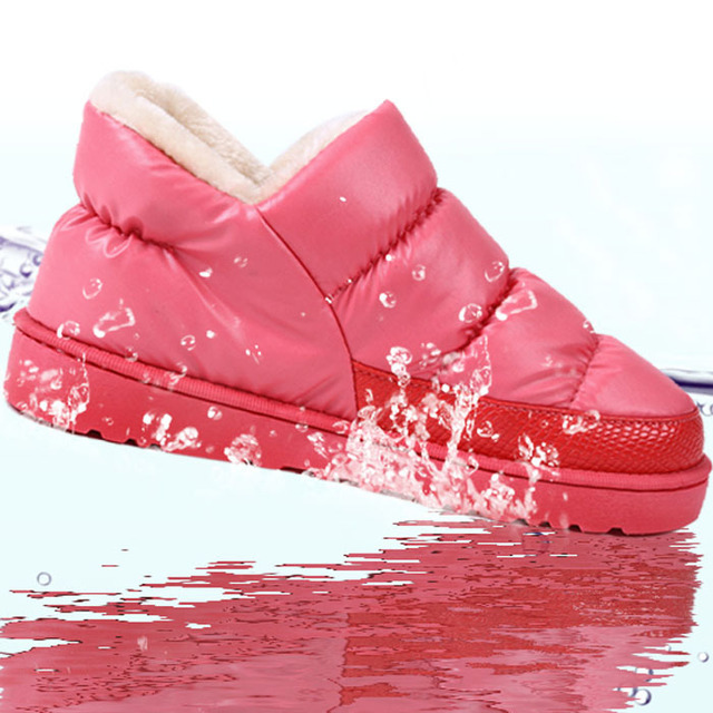 Women Winter Dress Snow Boots Warm Flat Waterproof Size 36-43