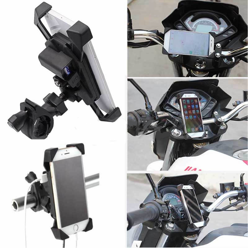 "WUPPUniversal <font><b>Bike</b></font> <font><b>Motorcycle</b></font> <font><b>Phone</b></font> Mount <font><b>Holder</b></font> <font><b>with</b></font> <font><b>USB</b></font> <font><b>Charger</b></font> for 3.5-7"" Cell <font><b>Phone</b></font> <font><b>GPS</b></font>"