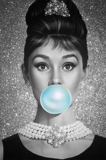 Custom Canvas Wall Decals Mural Bubble Audrey Hepburn Poster Decor Pin Up Girl
